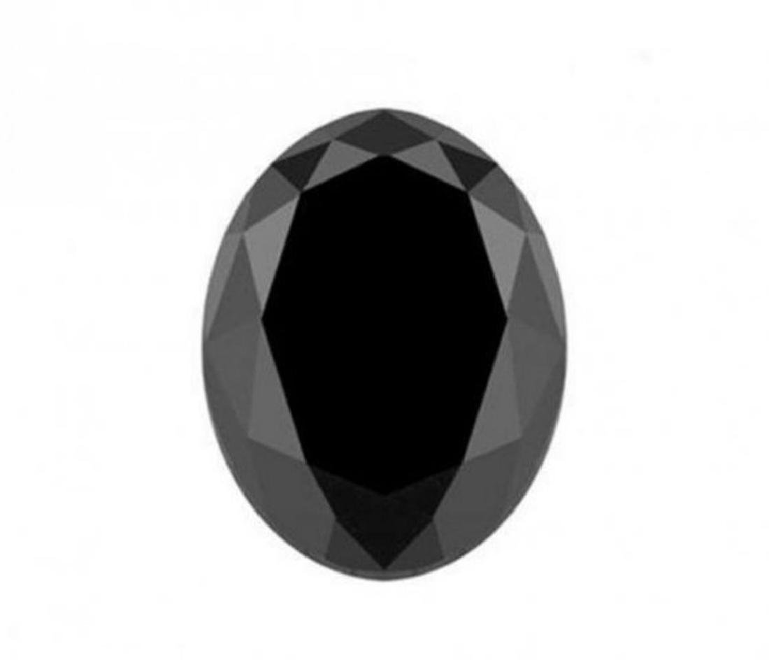 Black Diamond Oval Shape 6.71Ct 13.3x11.4x6.5mm
