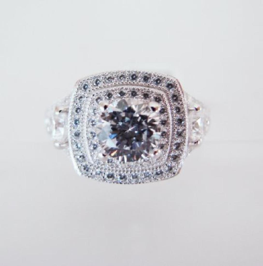 Creation Diamonds Ring 2.15Ct 18k W/g Overlay