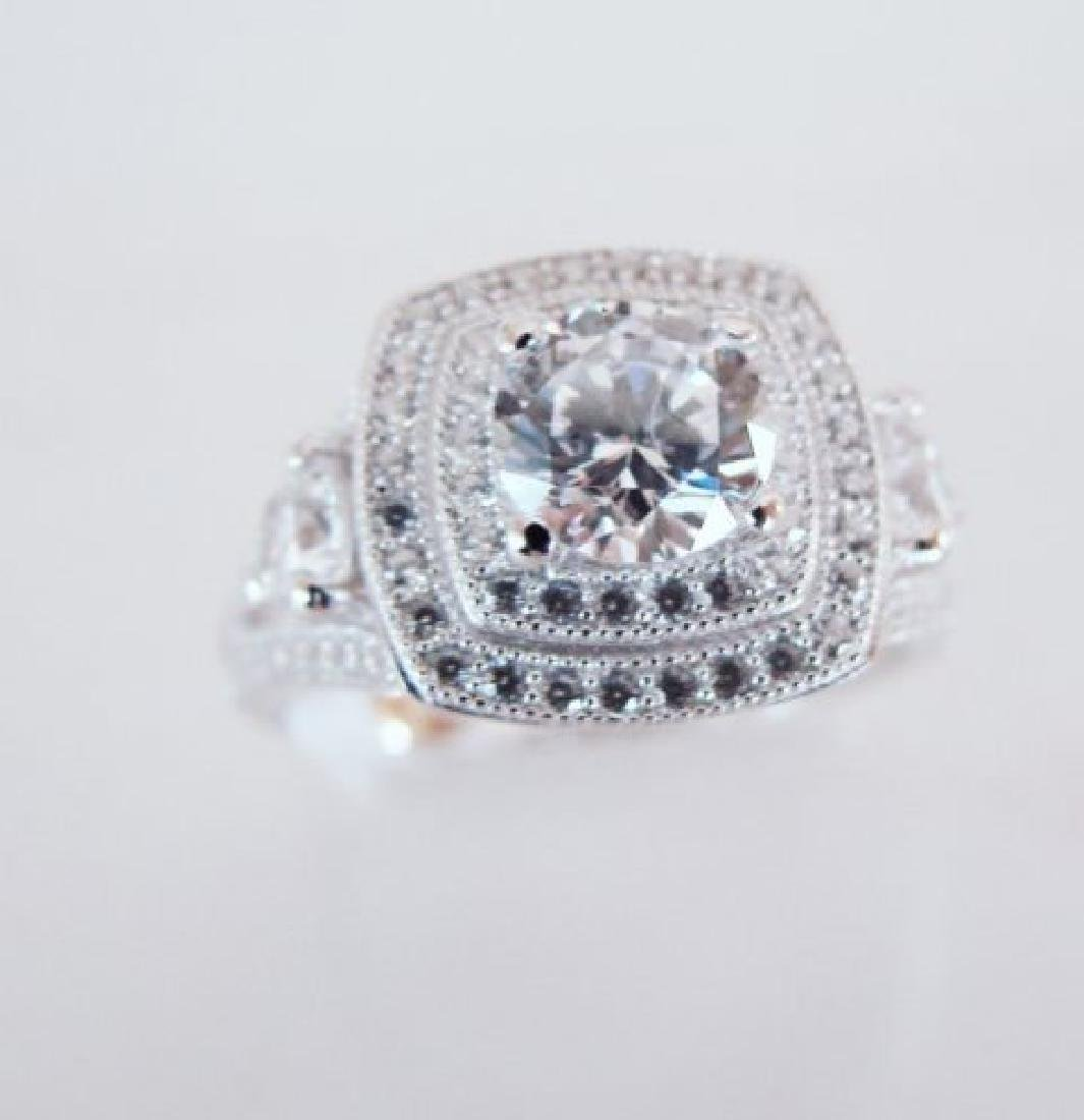 Creation Diamonds Ring 2.15Ct 18k W/g Overlay - 2