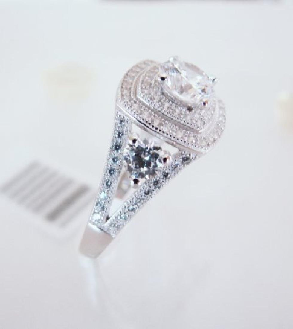 Creation Diamonds Ring 2.15Ct 18k W/g Overlay - 3