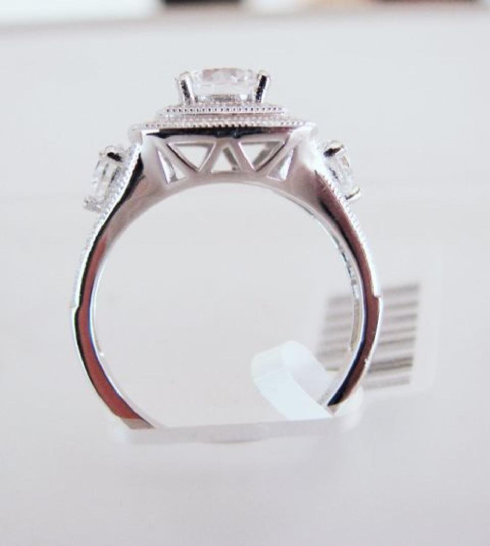 Creation Diamonds Ring 2.15Ct 18k W/g Overlay - 4