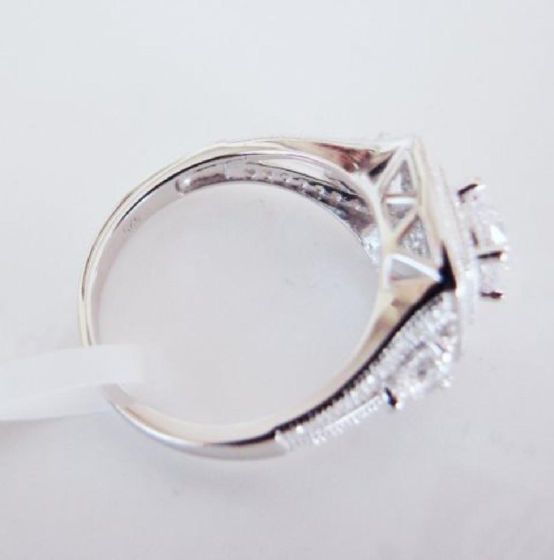 Creation Diamonds Ring 2.15Ct 18k W/g Overlay - 5