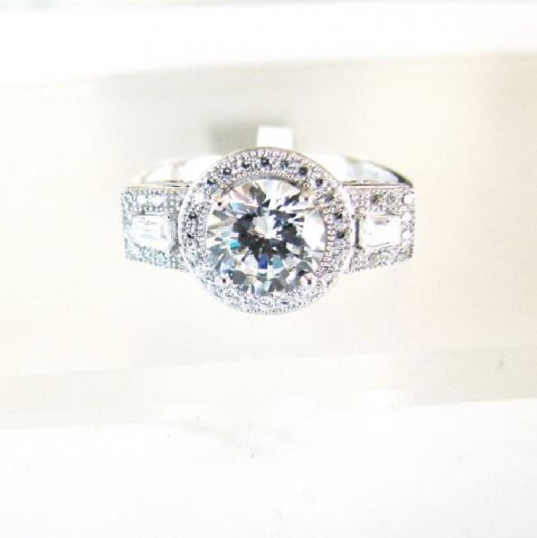Creation Diamond-Ring 2.75Ct 18k W/g Overlay