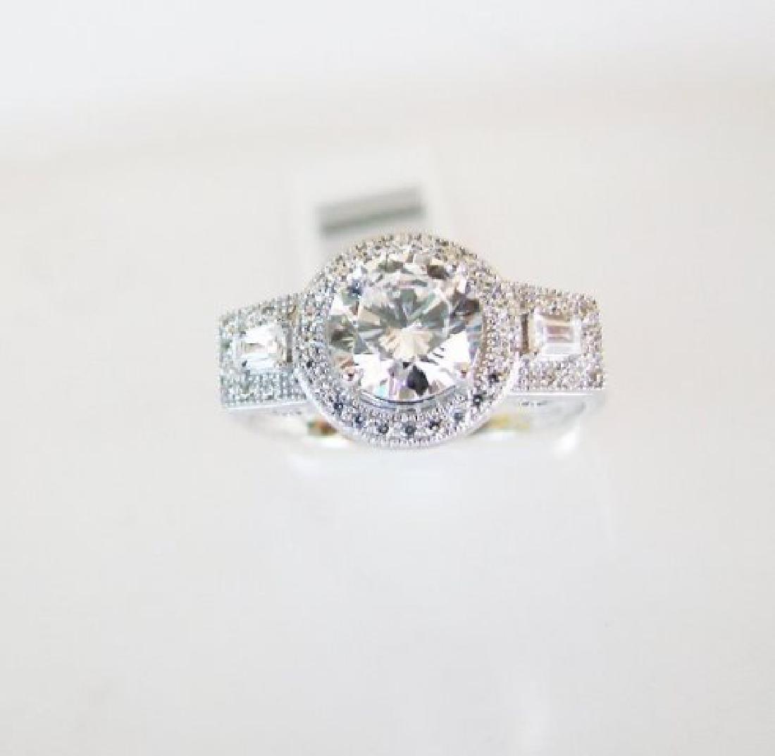 Creation Diamond-Ring 2.75Ct 18k W/g Overlay - 2