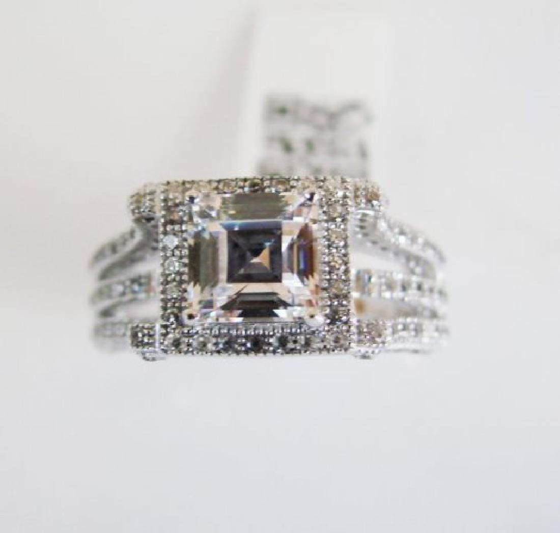 Creation Diamond-Ring 2.35Ct 18k W/g Overlay