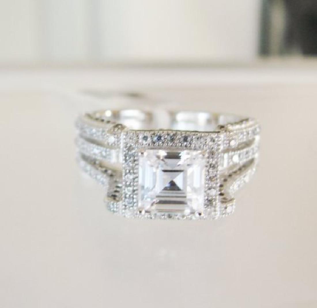 Creation Diamond-Ring 2.35Ct 18k W/g Overlay - 3