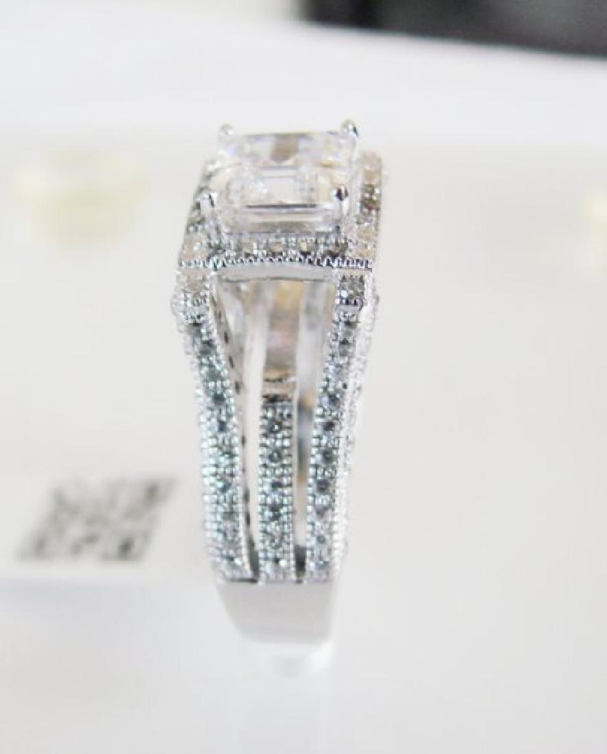 Creation Diamond-Ring 2.35Ct 18k W/g Overlay - 4