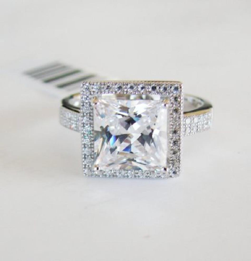 Creation Diamond-Ring 3.25Ct 18k W/g Overlay