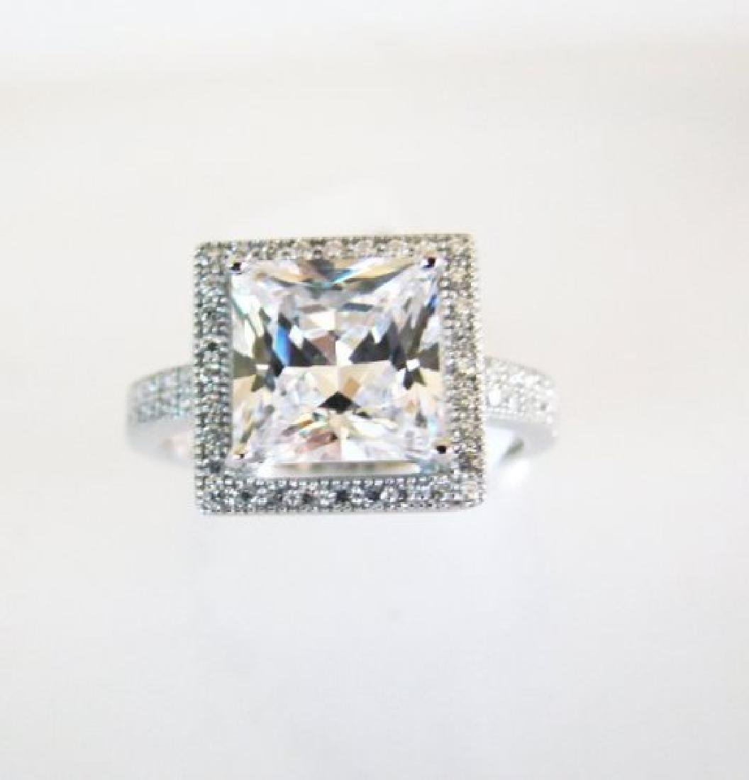 Creation Diamond-Ring 3.25Ct 18k W/g Overlay - 2