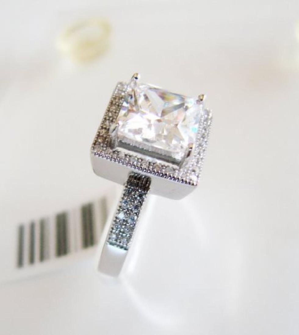 Creation Diamond-Ring 3.25Ct 18k W/g Overlay - 3
