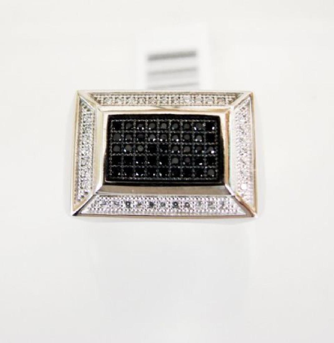 Creation Diamond-Men Ring .80Ct 18k W/g Overlay