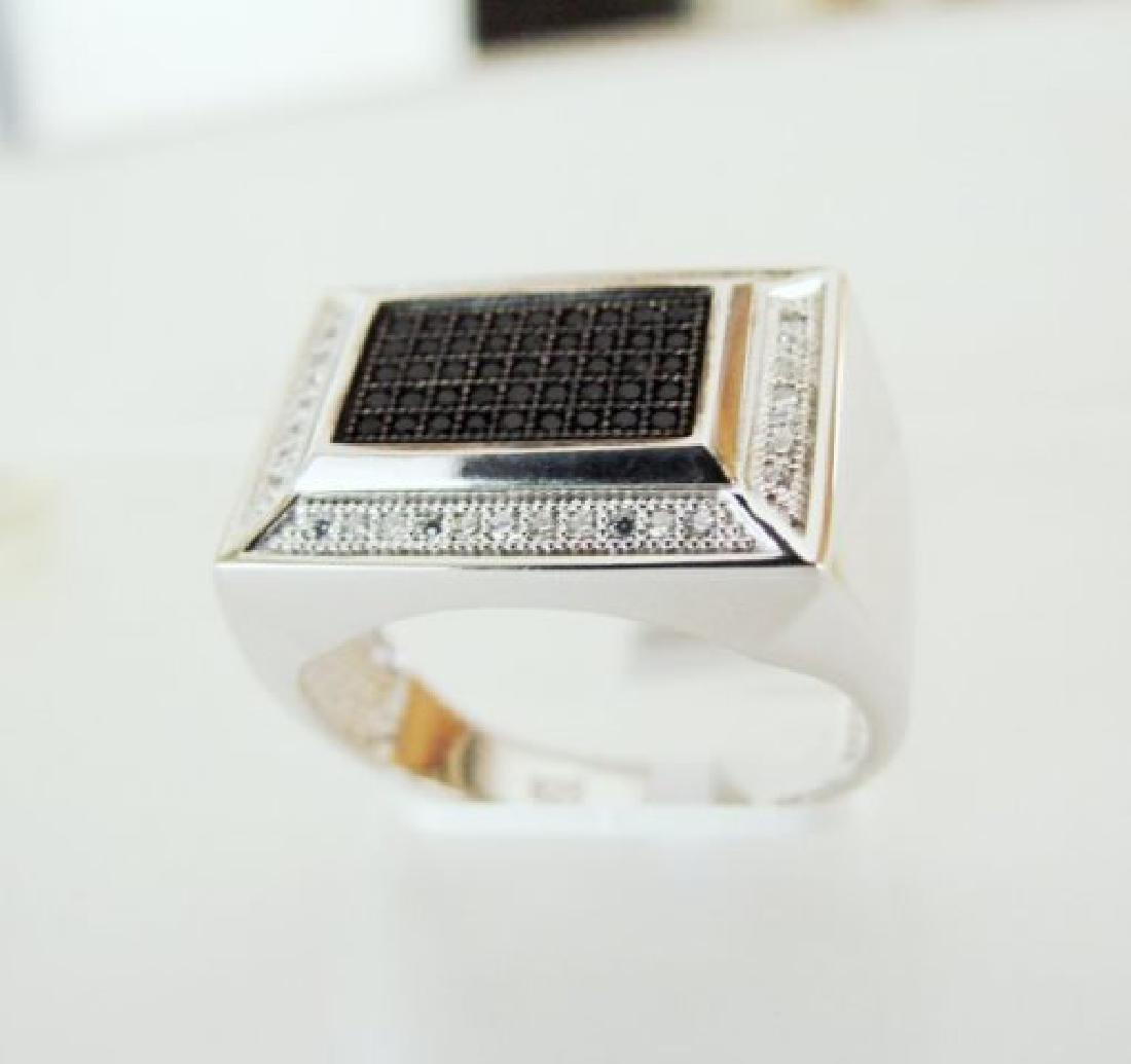Creation Diamond-Men Ring .80Ct 18k W/g Overlay - 2