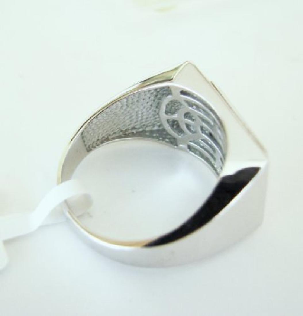 Creation Diamond-Men Ring .80Ct 18k W/g Overlay - 4