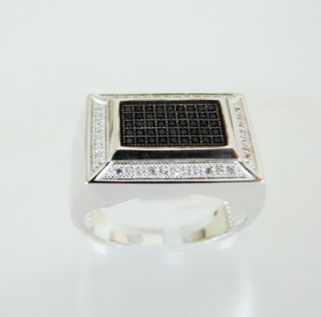 Creation Diamond-Men Ring .80Ct 18k W/g Overlay - 5
