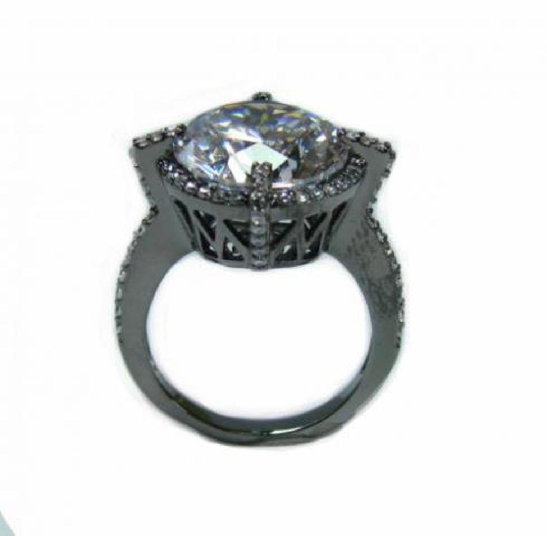 Creation Diamond/ 5.32 Carat 18k B/g Overlay - 3