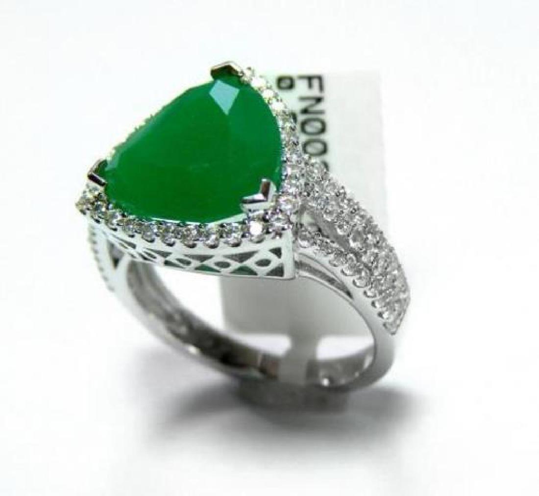 Creation Diamond/Green Onyx 5.56 Carat 18k W/g Overlay - 3