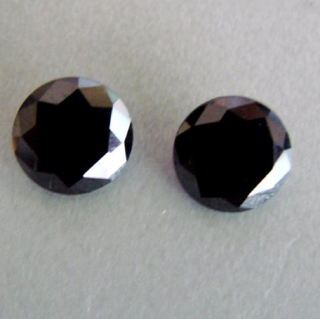 Natural Black Diamond Roud Shape Pairs 4.20Ct 8.8x4.5mm