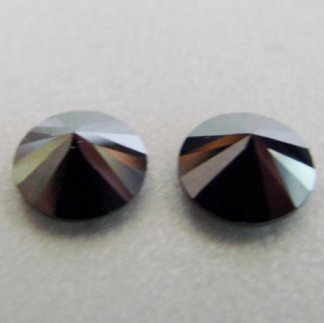 Natural Black Diamond Roud Shape Pairs 4.20Ct 8.8x4.5mm - 2