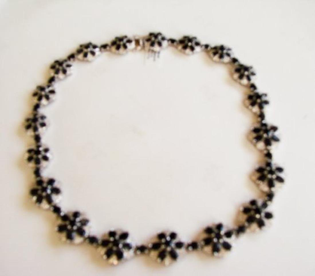Sapphire&Creation Diamond Necklace 102.03Ct18k W/g Over - 2