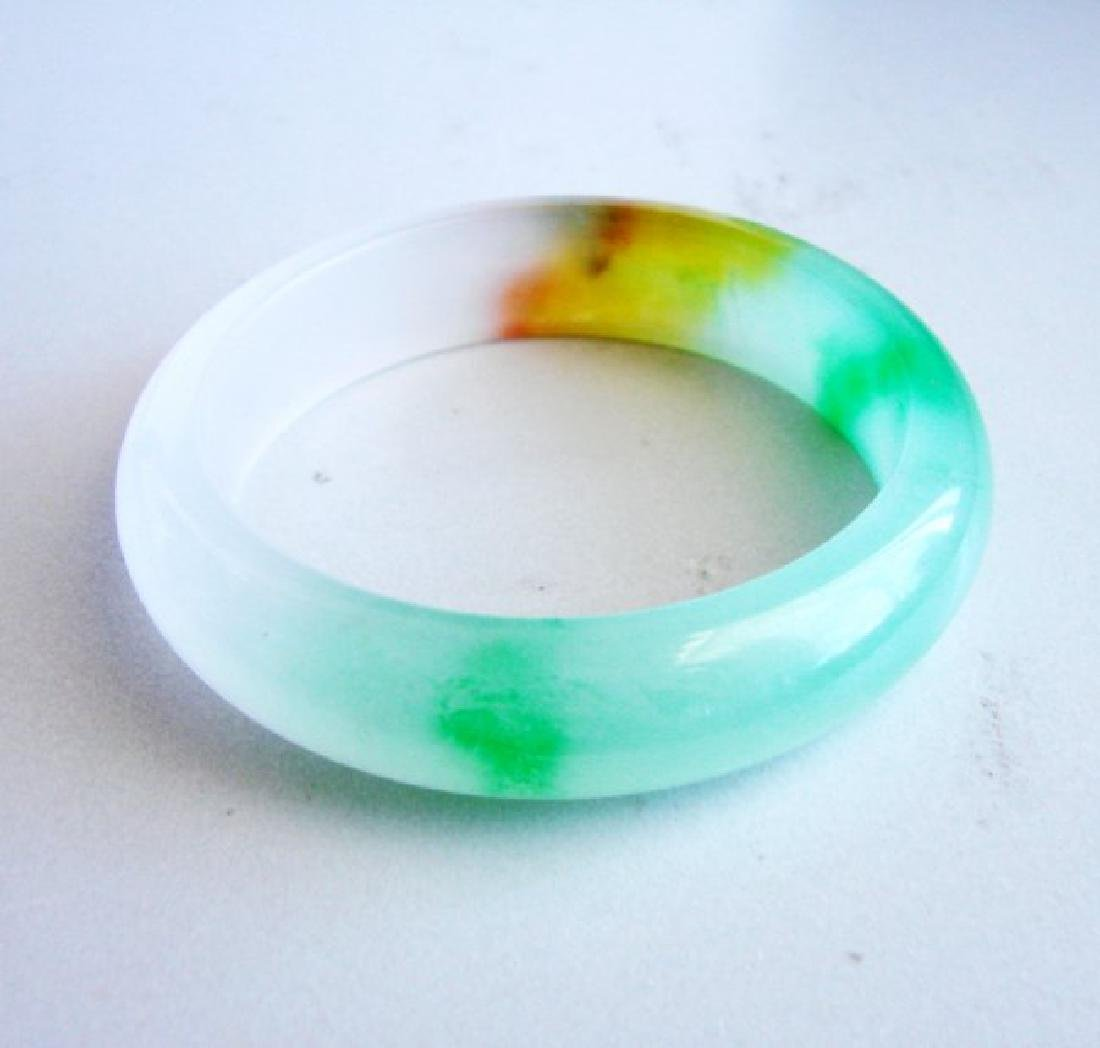 Natural Jadeite Jade Bangle Grade B Size: 7.75