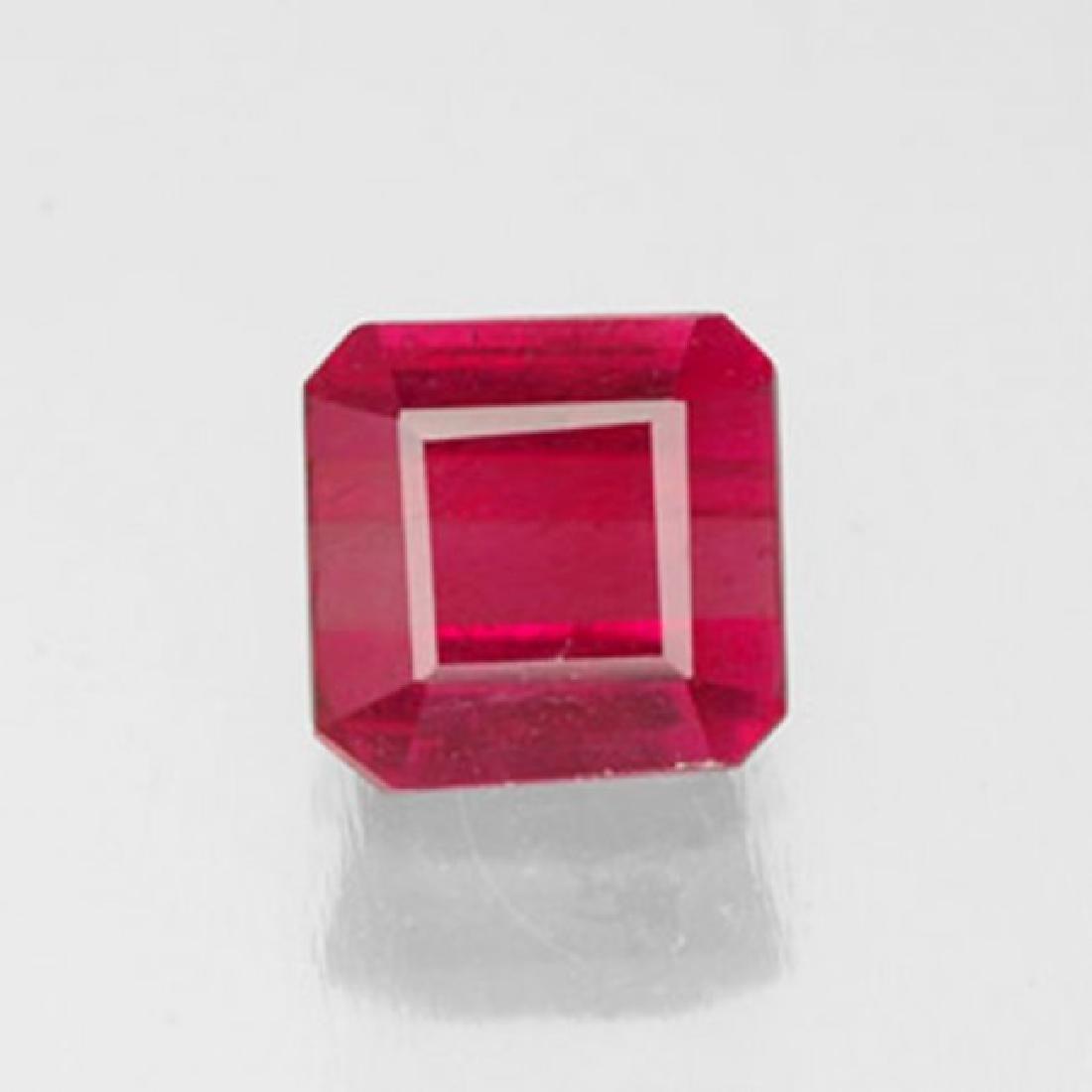 Natural Ruby Cushion Facet 1..49Ct 6.2x6x3.9 mm