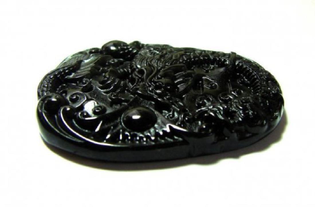 Onyx carving Dragon 114.45Ct 55x40x6.4mm - 3