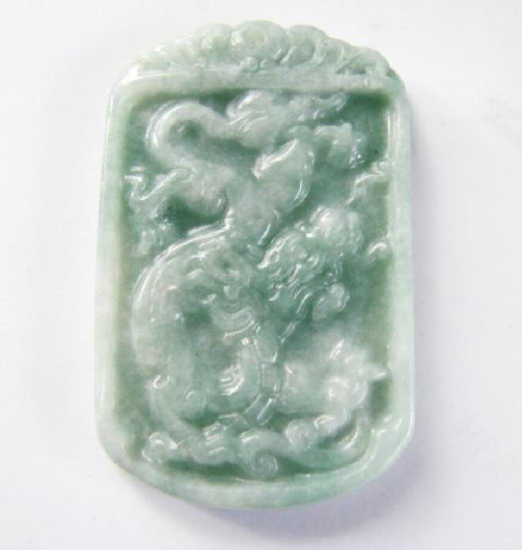 Natural Jadeite Jade Carving Dragon Grade A