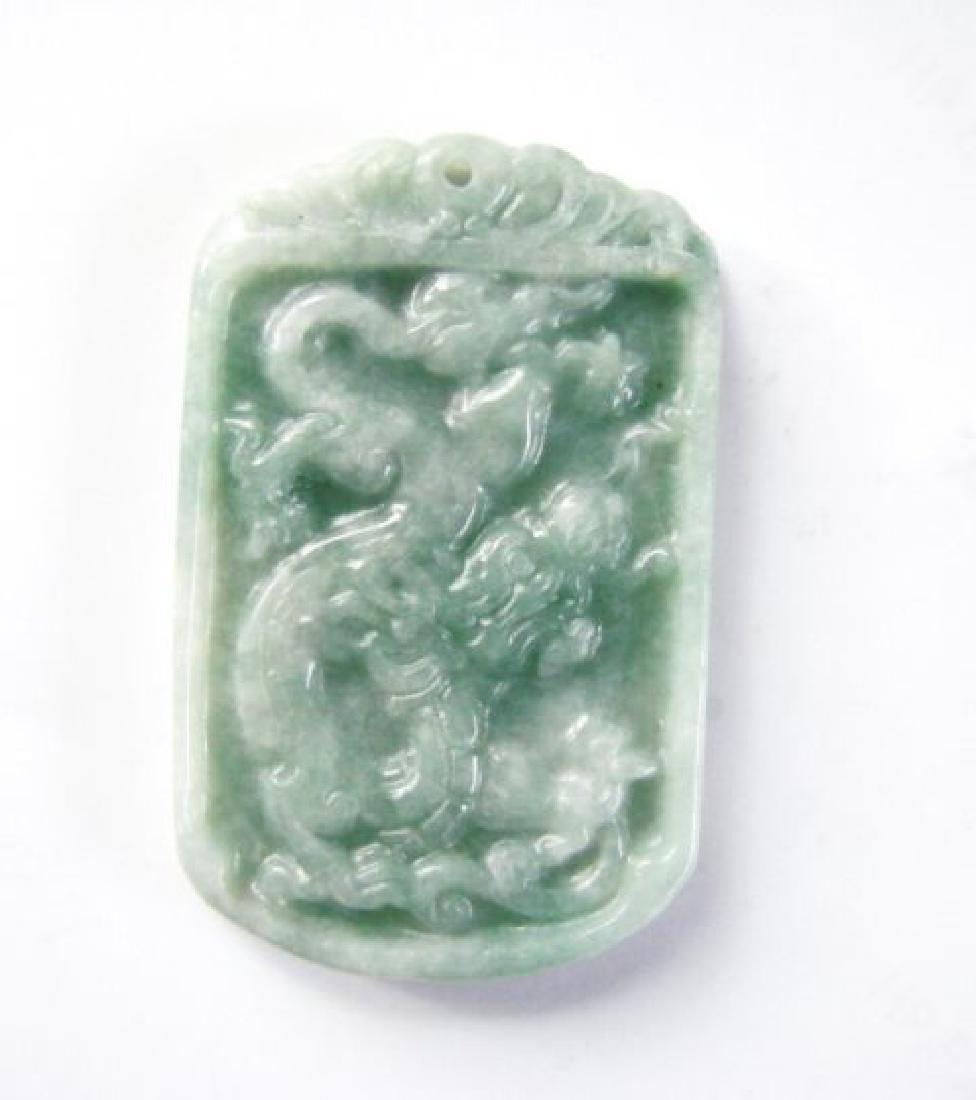 Natural Jadeite Jade Carving Dragon Grade A - 2