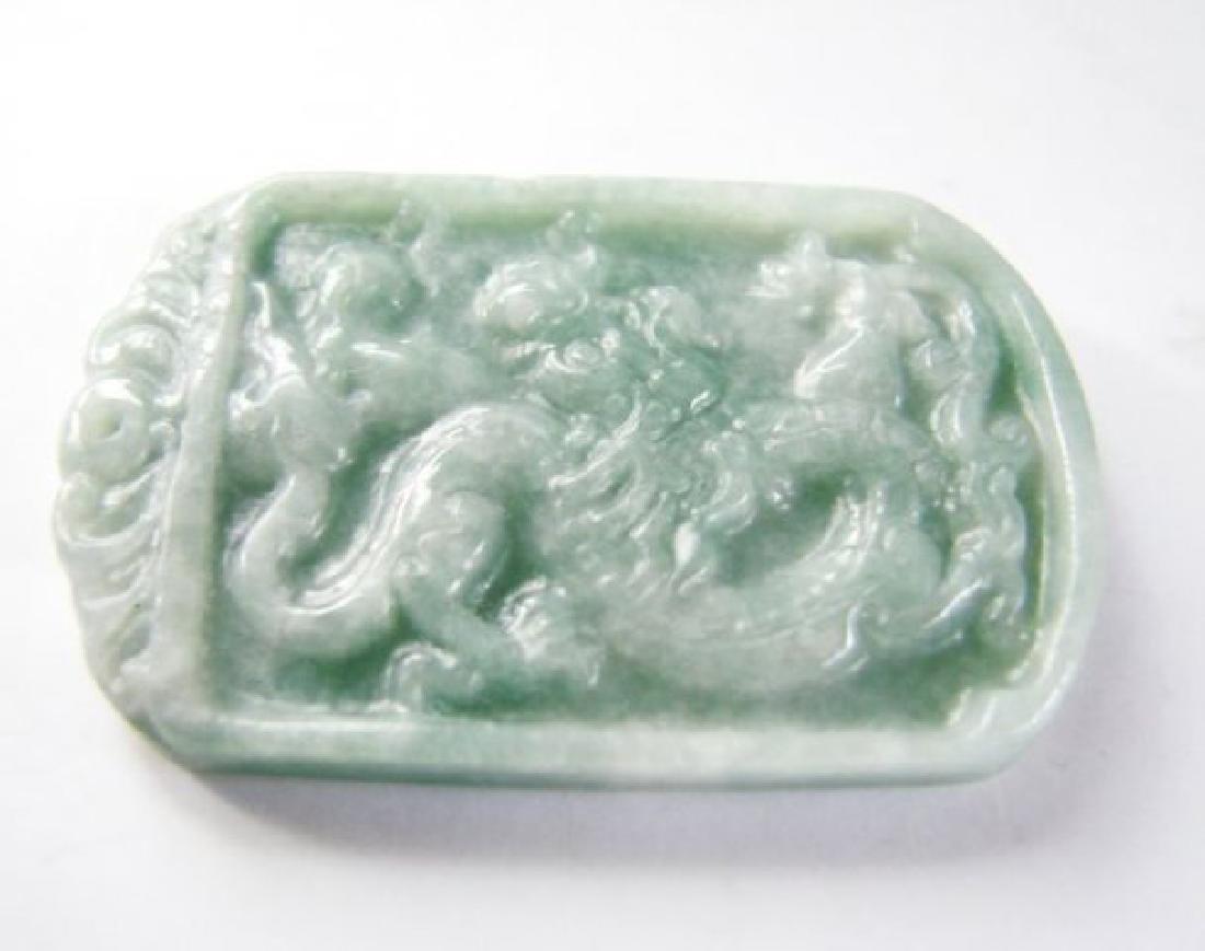 Natural Jadeite Jade Carving Dragon Grade A - 3