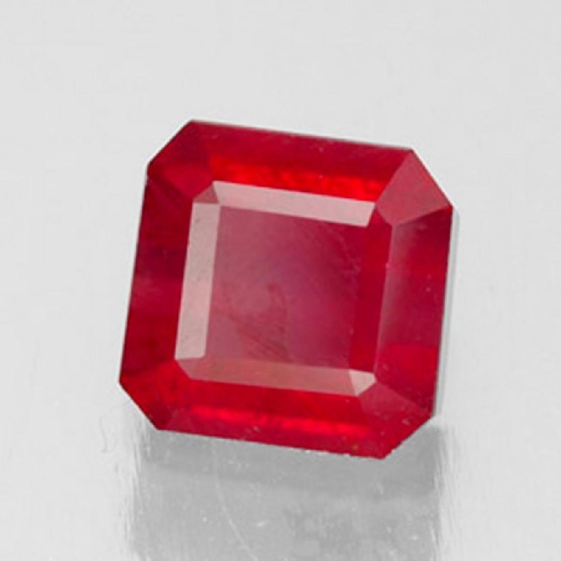 Natural Ruby Cushion Facet 1.72Ct 6.5x6.4x4.2mm