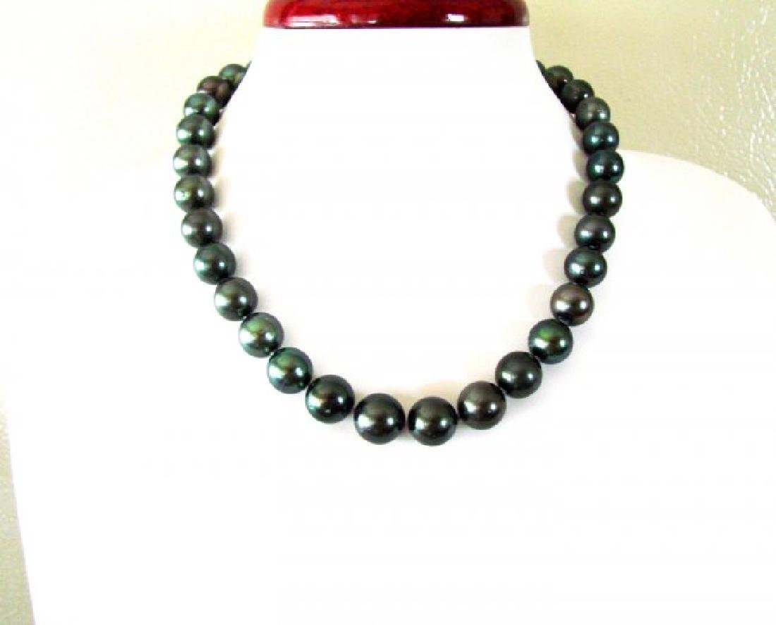 "Natural Tahitian Pearl Graduation 13 Thru11mm 18""inch"