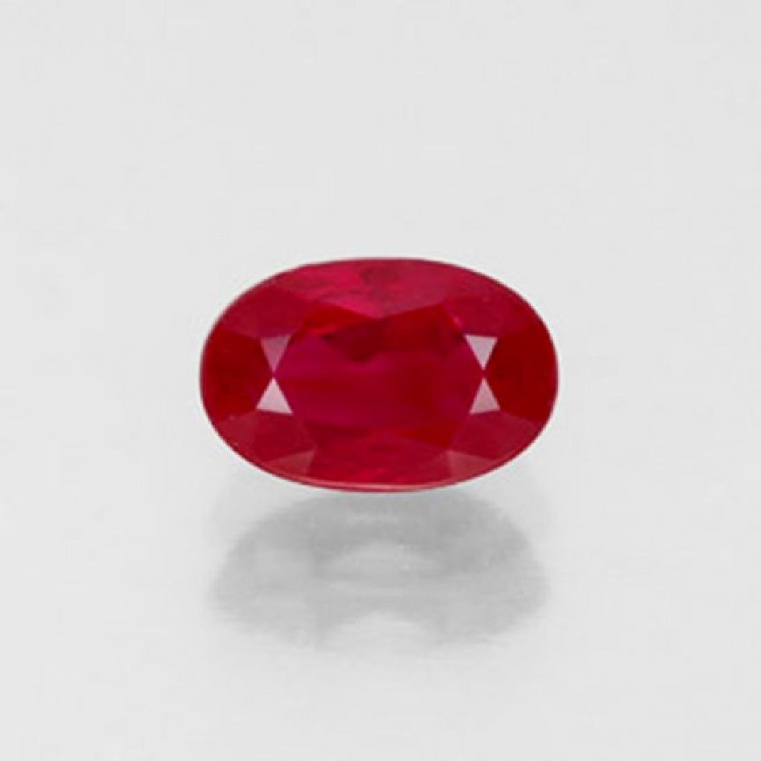 Natural Ruby Oval Facet 1.84Ct 8x5.6x4.4mm