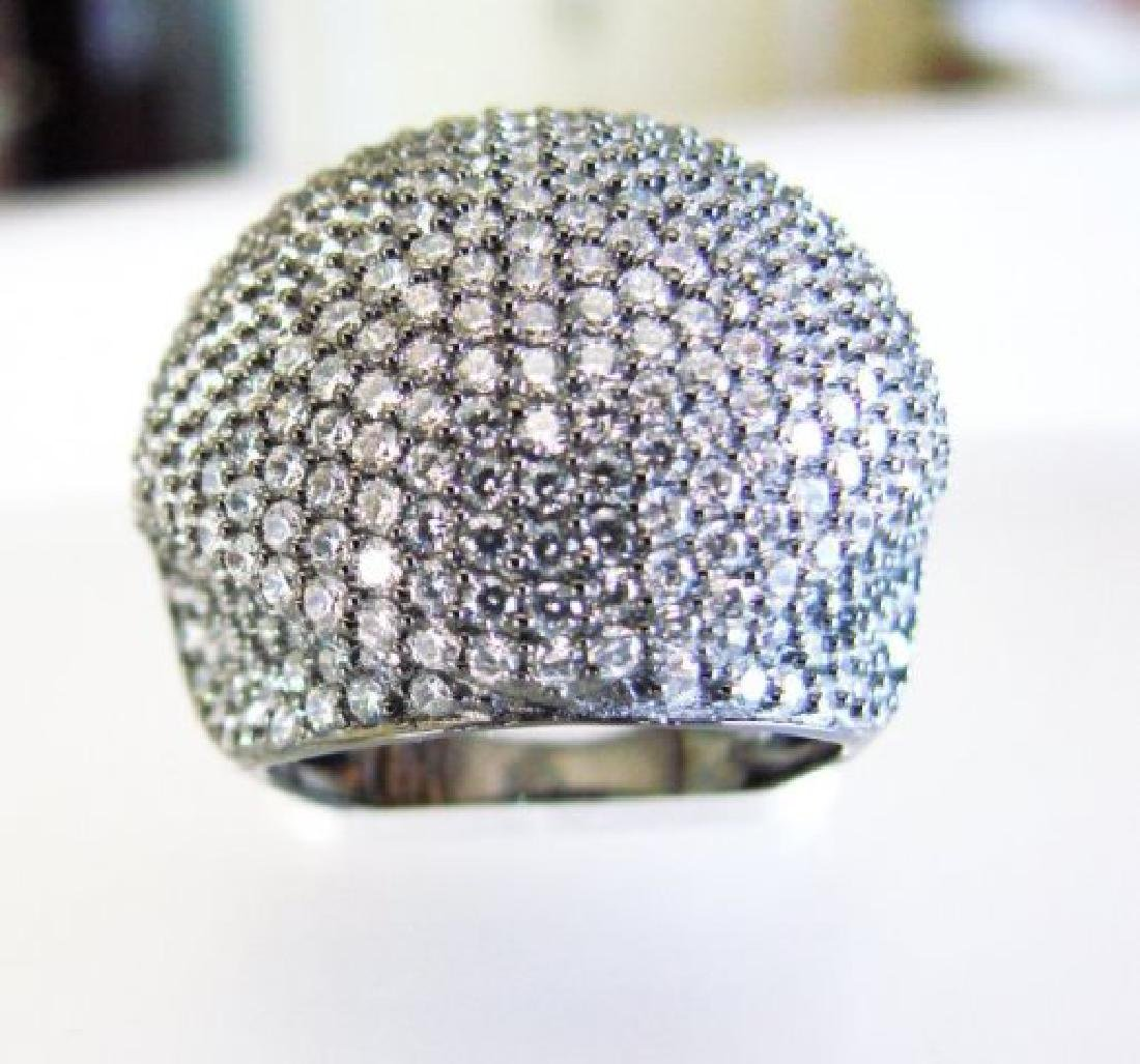 Creation Diamond Dome Ring 4.75Ct18k B/G Overaly - 2
