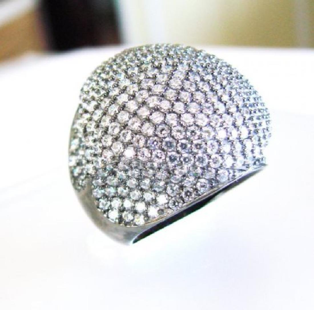 Creation Diamond Dome Ring 4.75Ct18k B/G Overaly - 3