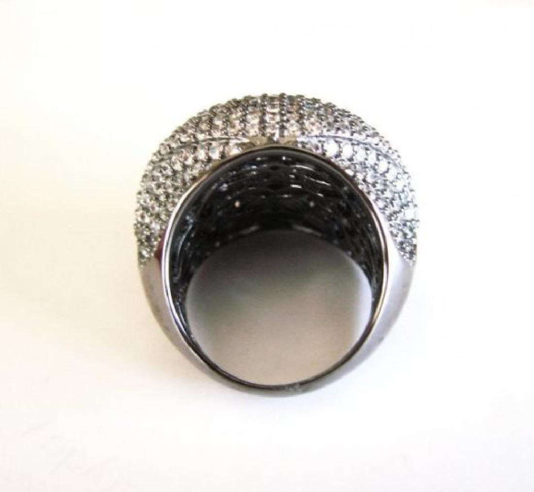 Creation Diamond Dome Ring 4.75Ct18k B/G Overaly - 4