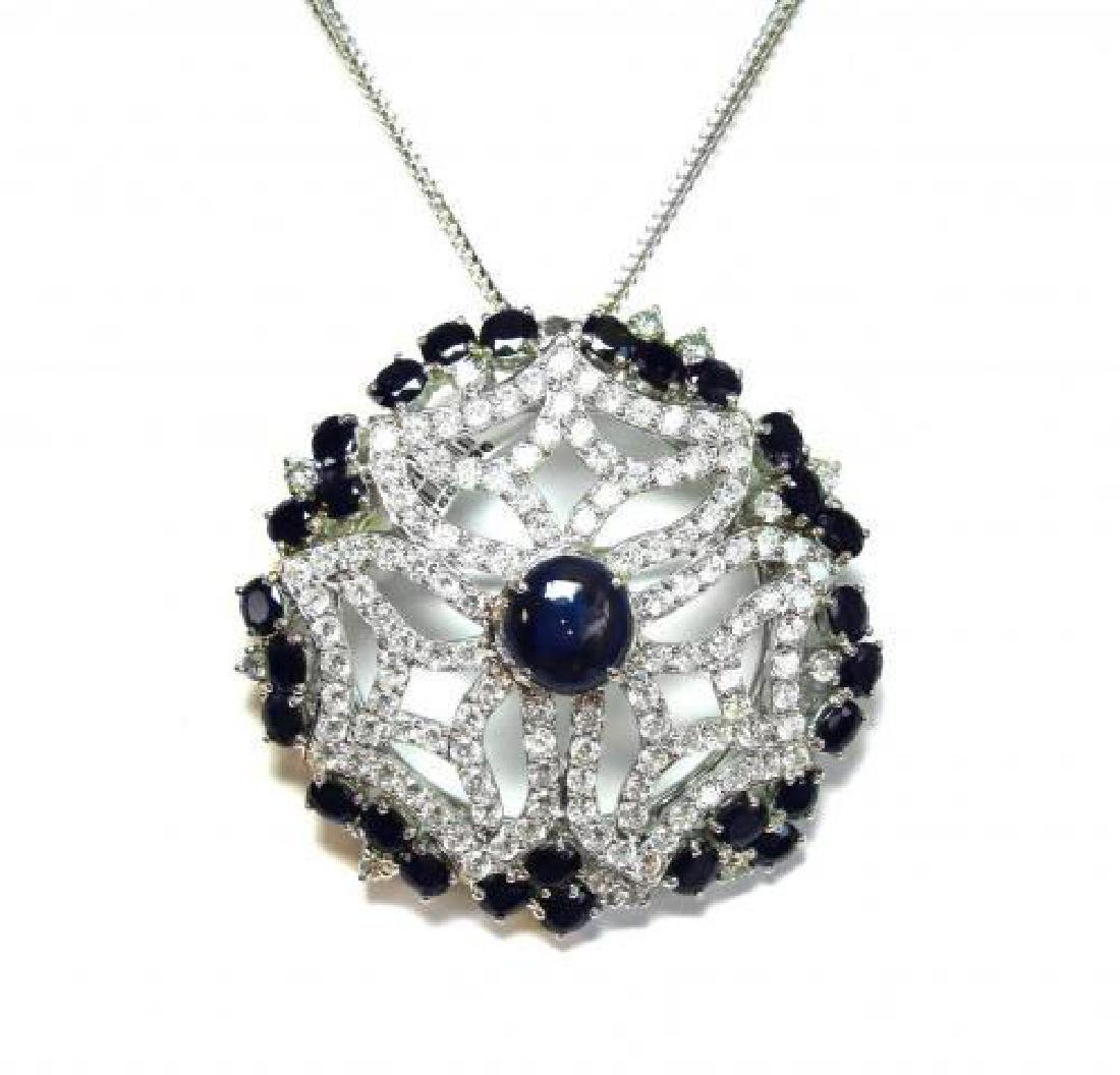 Natural Blue Sapphire13.24CT/ Creation Dia: 15.CT 18k
