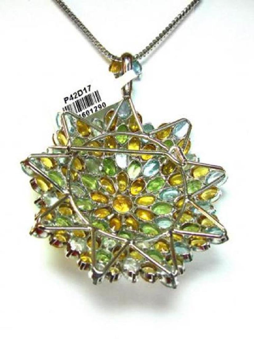 Multi-Colored Pendant 47.CT 18k W/g Overlay - 2