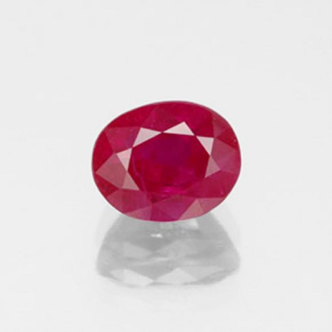 Loose Ruby Oval Fecet  1.26Ct 7.1x6.2x2.7mm