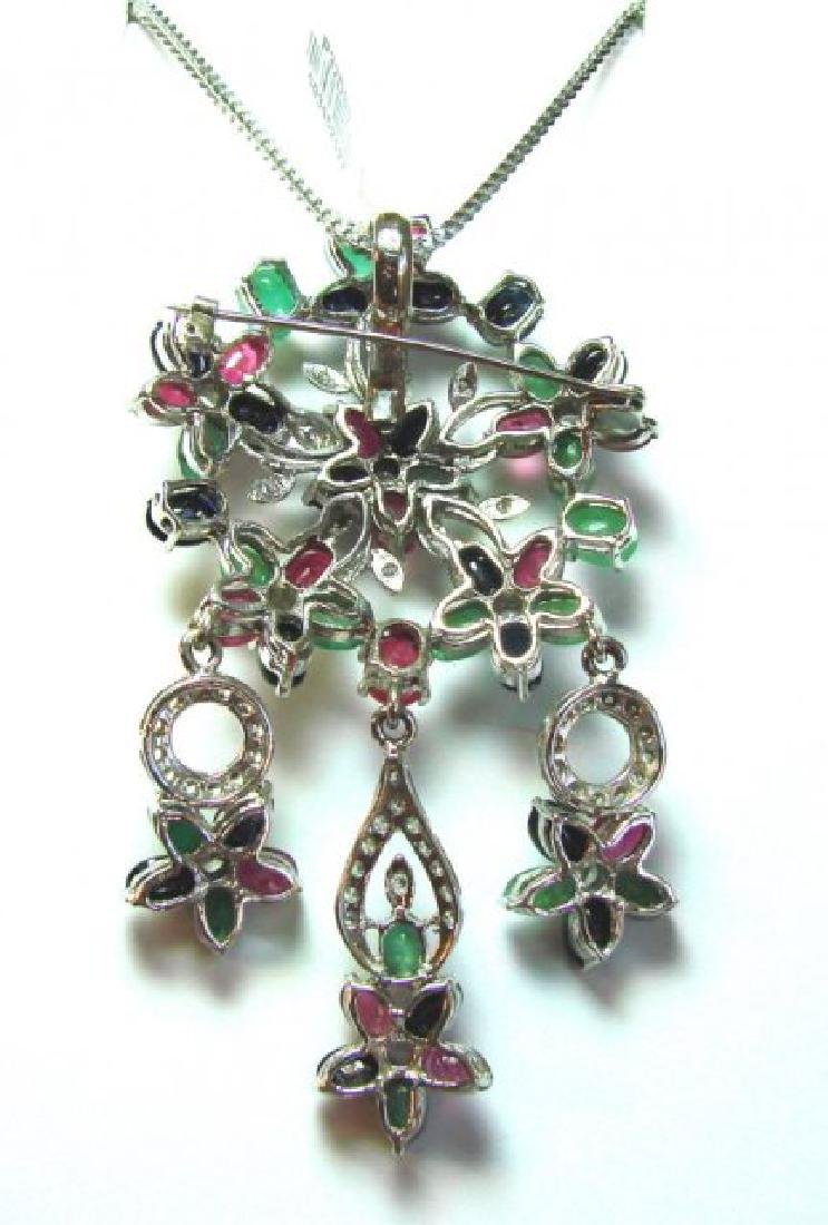 Natural Multicolor Pendant 19.90Ct 18k W/g Overlay - 3