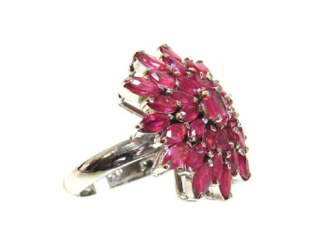 Natural Ruby Ring 3.91Carat 18k W/g Overlay - 2