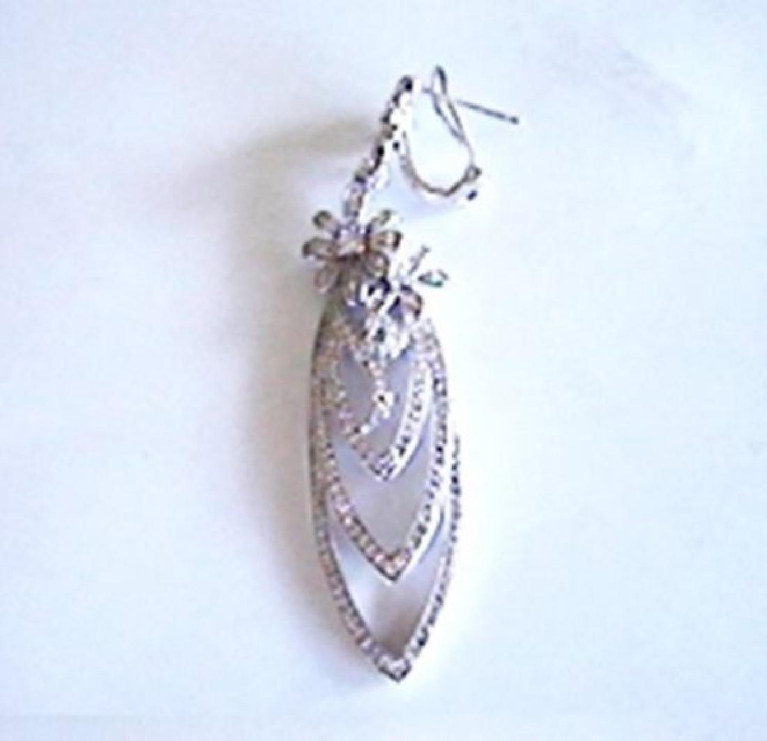 Creation Diamond Earring Chandelier 3.75Ct 18k W/g - 3