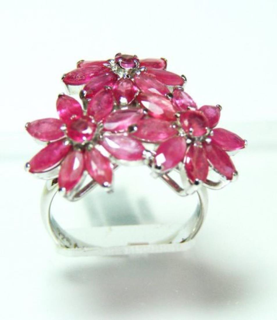 Natural Ruby Ring 5.54Ct 18k W/g Overlay - 2