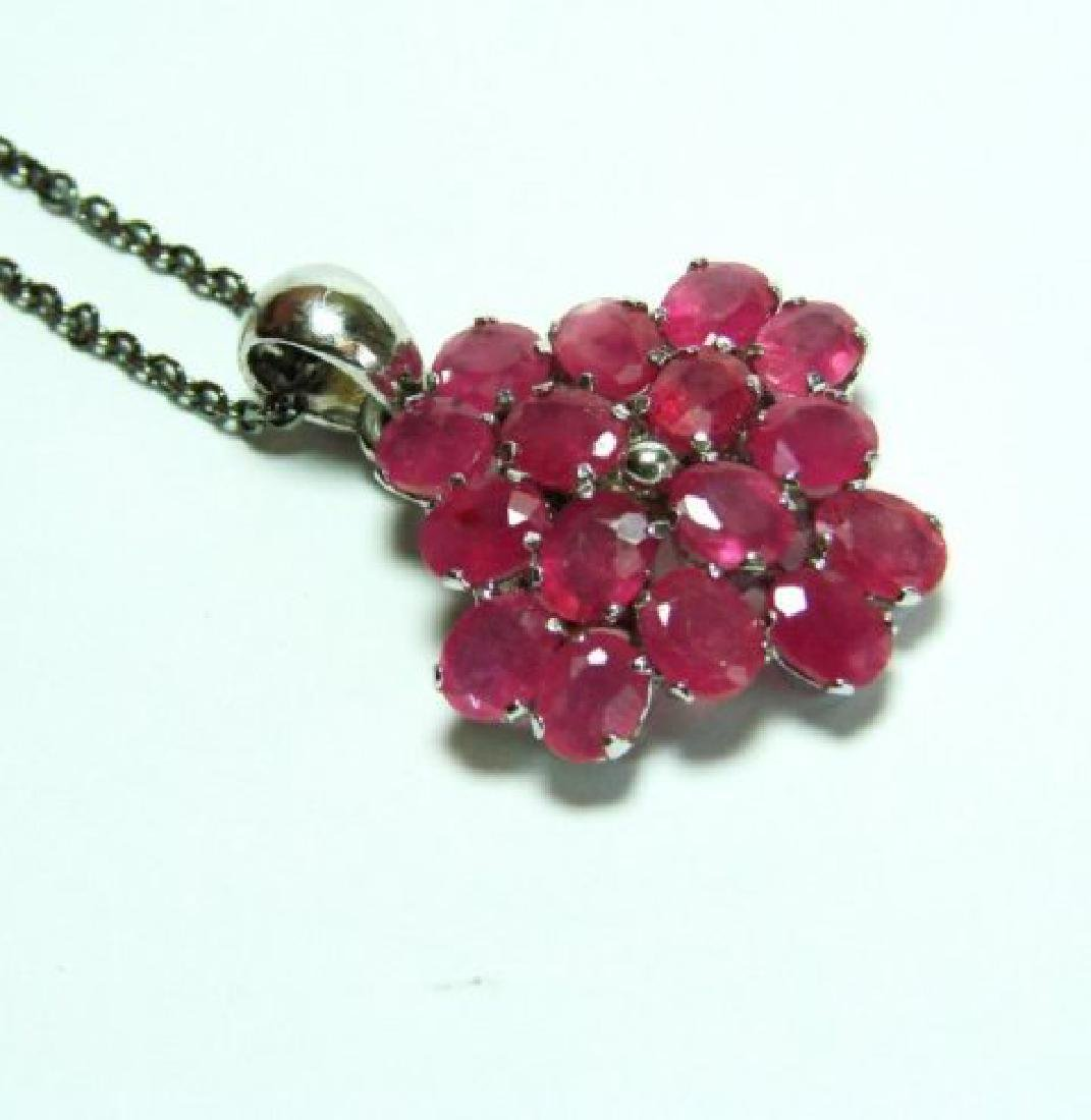 Natural Ruby Pendant 8.64Ct18k W/g Overlay - 2