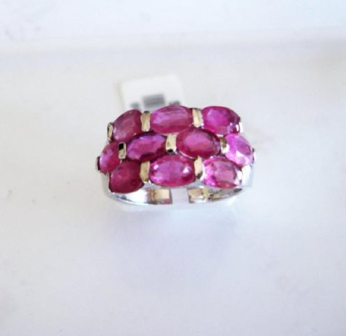 Natural Ruby Ring 8.10Ct 18k W/g Overlay - 2