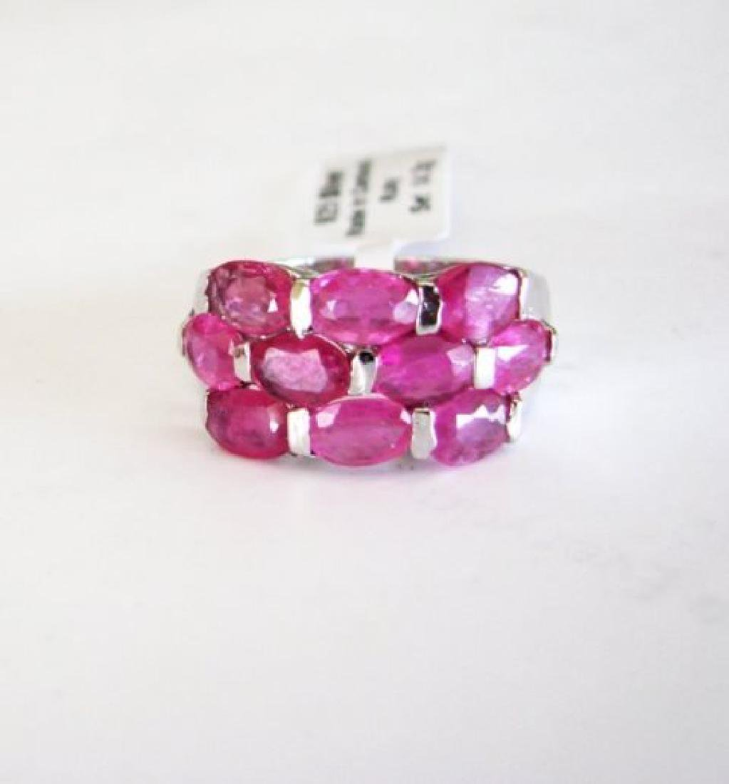 Natural Ruby Ring 8.10Ct 18k W/g Overlay - 3