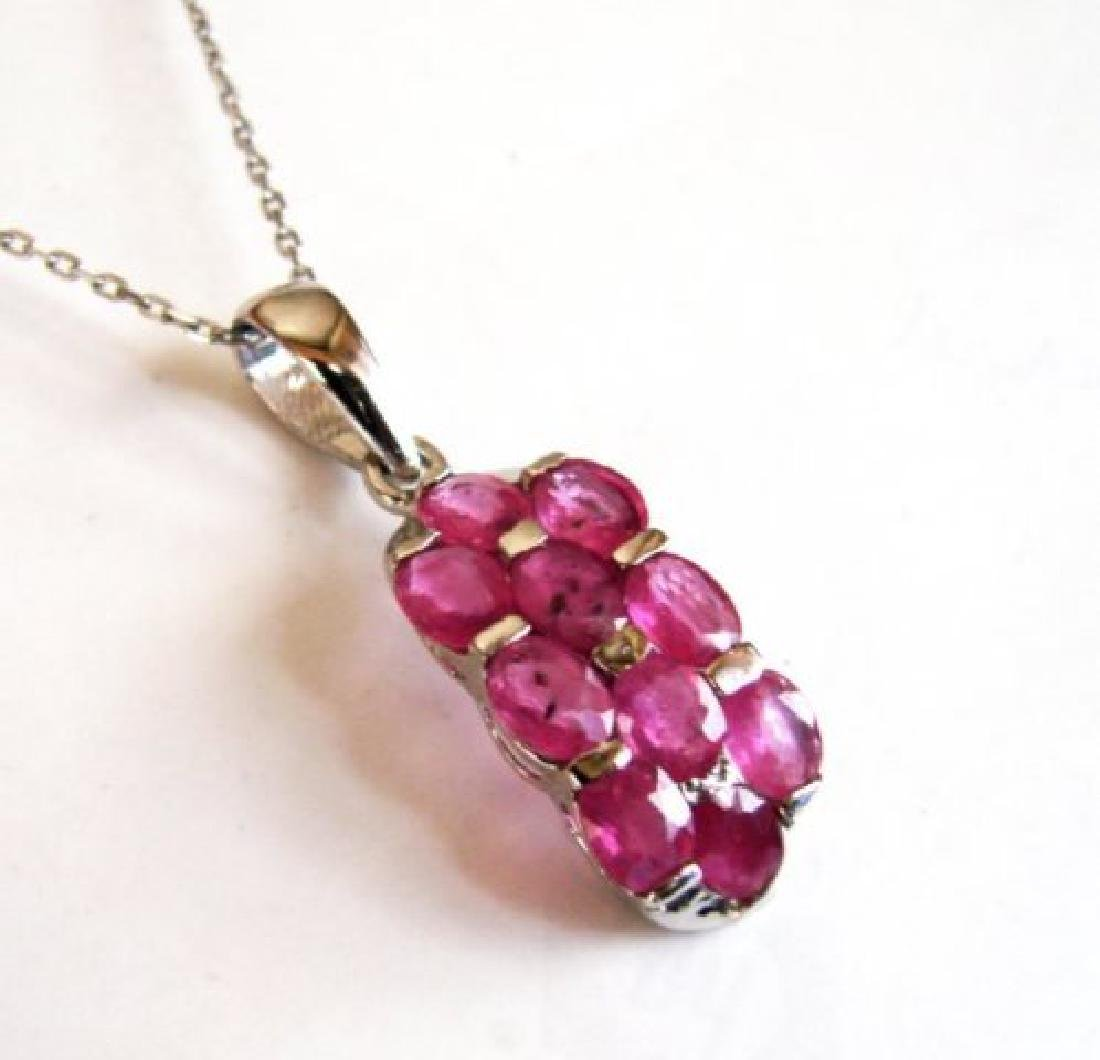Natural Ruby Pendant 8.10Ct 18k W/g Overlay - 2