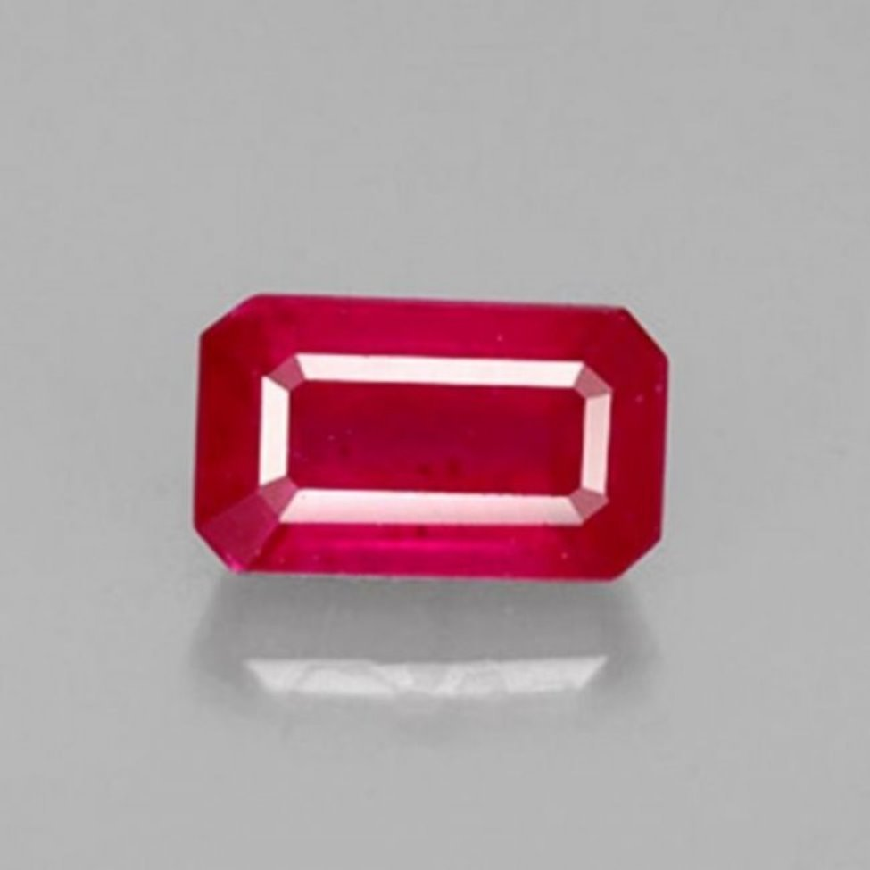 Natural Ruby Octagon Facet 1.68Ct 7.5x4.8x3.7mm