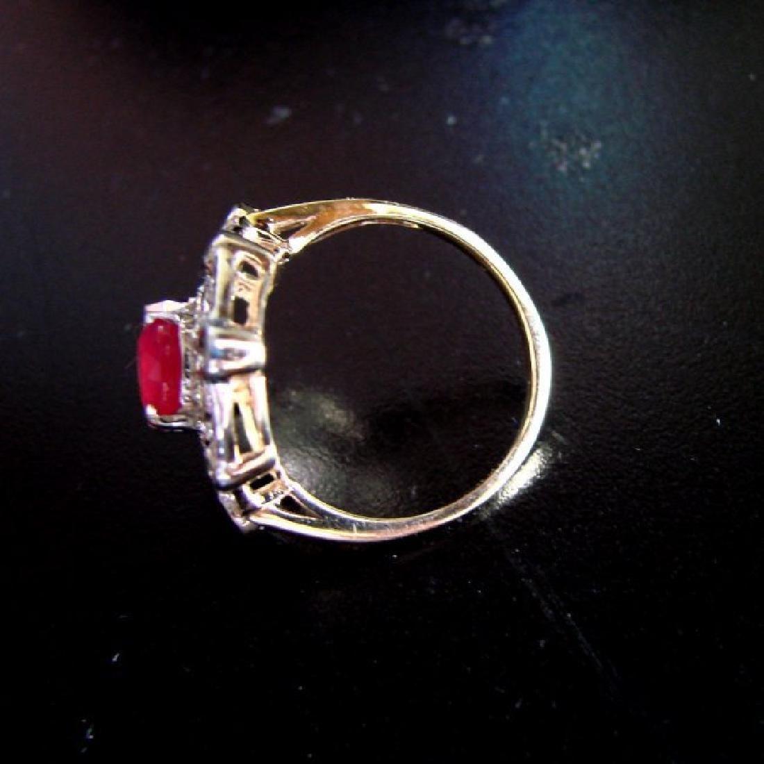 Ring Natural Ruby Diamond 5.61Ct 14k Y/g - 4