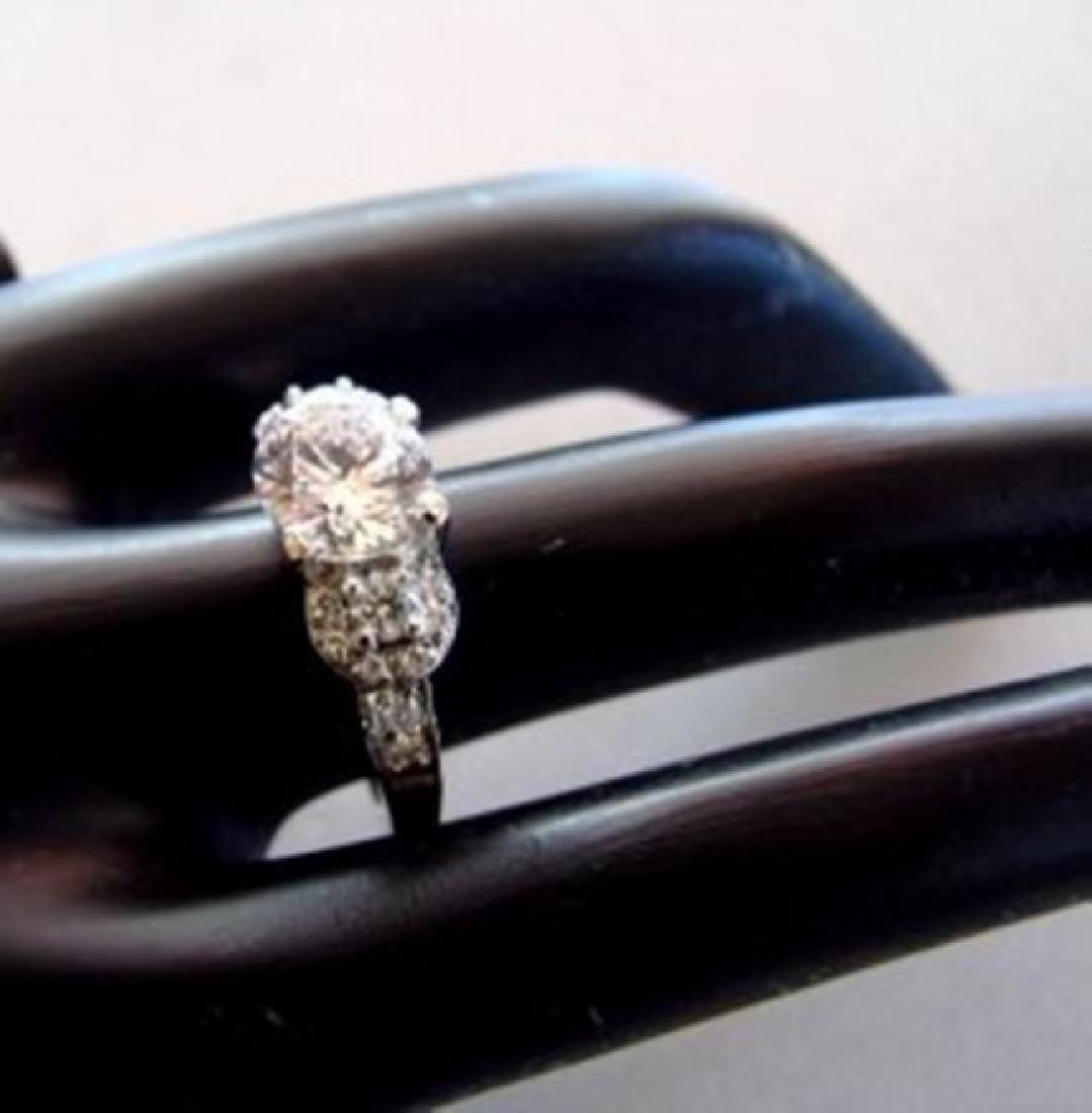 Engagement Ring Diamond 2.31Ct 18k White Gold - 3