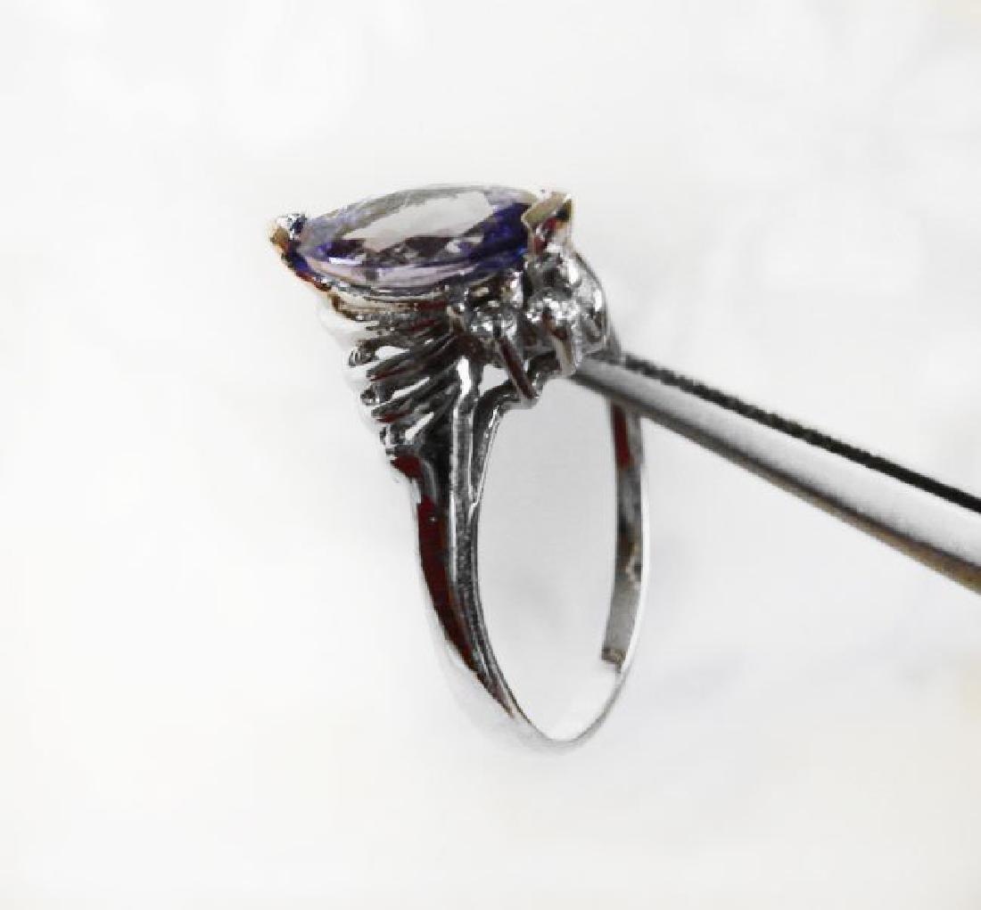 Tanzanite & Diamond Ring 1.20T14k W/g - 3
